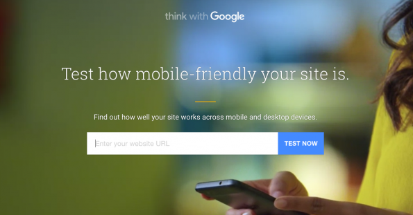 Test how mobile friendly your site it, and check to see if it loads immediately to avoid users bouncing off.