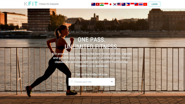 Kfit shows how you can easily navigate through their landing page while immediately explaining what they do.