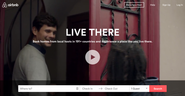 Airbnb supports their mission by offering quality visuals on their site, thus building credibility.